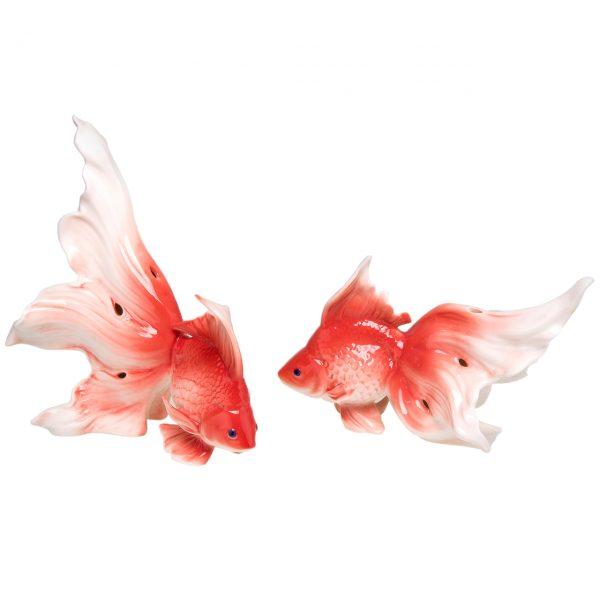 مجسمه رومنس طرح ماهی مدل 5061 مجموعه 2 عددی