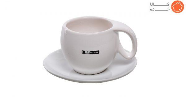 ست فنجان و نعلبکی آی سرام طرح ریتا کد 4026 (1)