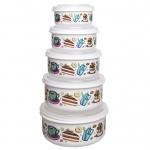 ظروف نگهدارنده فرش کیپس طرح کیک – بسته 5 عددی