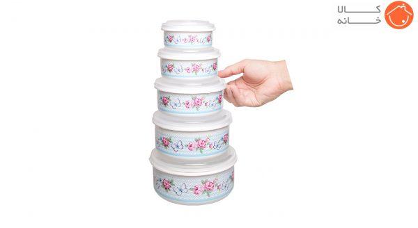 ظروف نگهدارنده فرش کیپس طرح گل - بسته 5 عددی