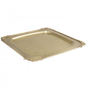سینی برنجی مربع ایران کادو کد 151