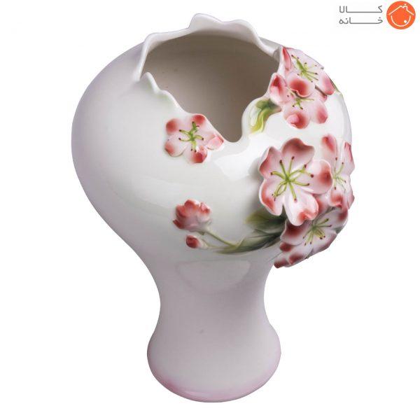گلدان چینی گل برجسته کد 101212