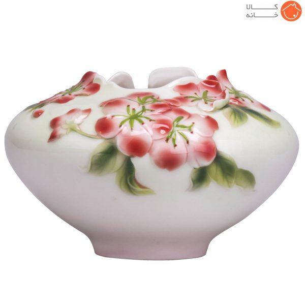 گلدان چینی گل برجسته کد 101213