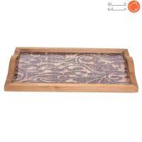 سینی چوبی طرحدار کد 70011
