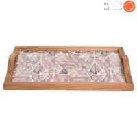 سینی چوبی طرحدار کد 70012