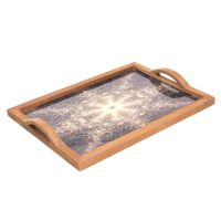 سینی چوبی طرحدار کد 70013