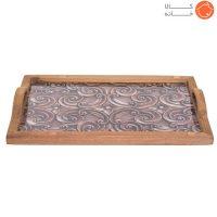 سینی چوبی طرحدار کد 70014