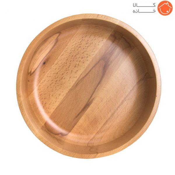 کاسه گرد چوبی