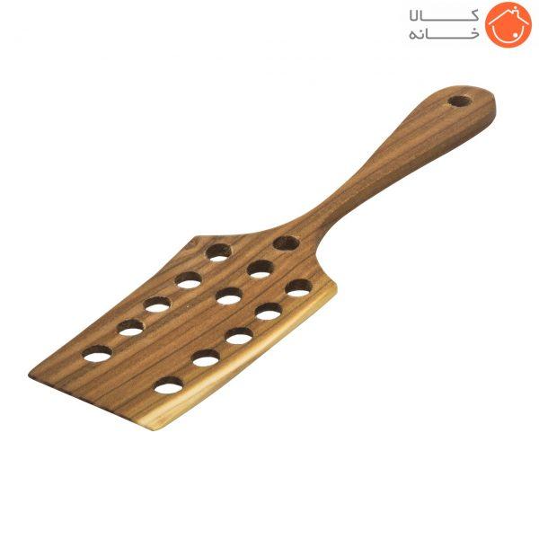 کفگیر چوبی سوراخ دار پرانی کد 10092