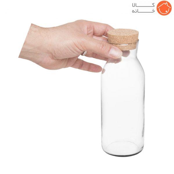 بطری شیشه ای با درب چوب پنبه کد 2218